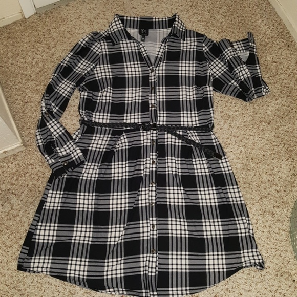 d3c938e59420b Derek Heart Plus Dresses   Plaid Tshirt Dress   Poshmark